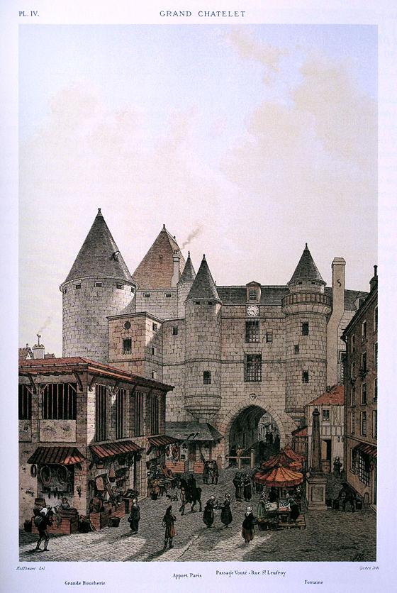 Le_Grand_Châtelet_vu_depuis_la_rue_Saint-Denis,_1800