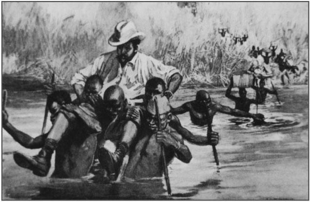 Les-colons-Blancs-sur-chaise-porteur